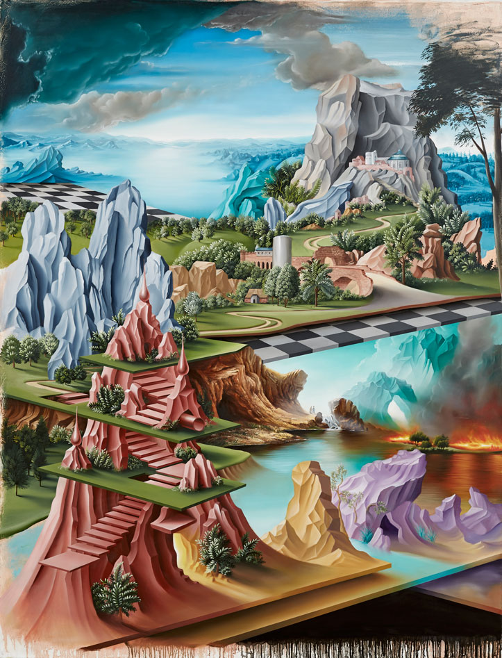 PETER DAVERINGTON   The Hanging Gardens of Niniveh  2014 oil on canvas 260 x 198 cm