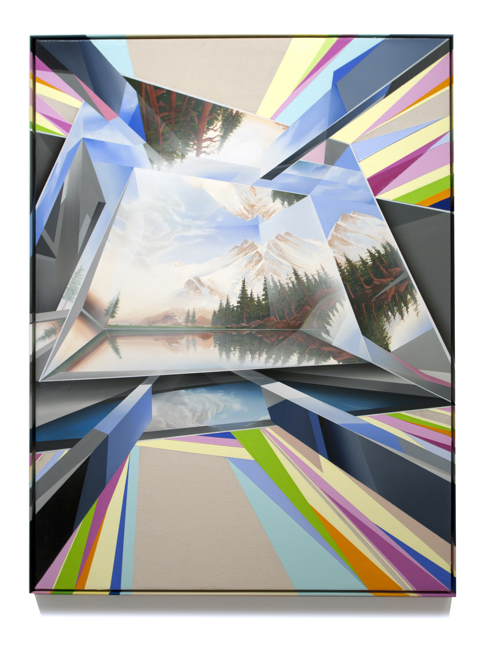 PETER DAVERINGTON     From the Future with Love #3  2013 Oil and acrylic on canvas with artist's frame 122 X 91 cm
