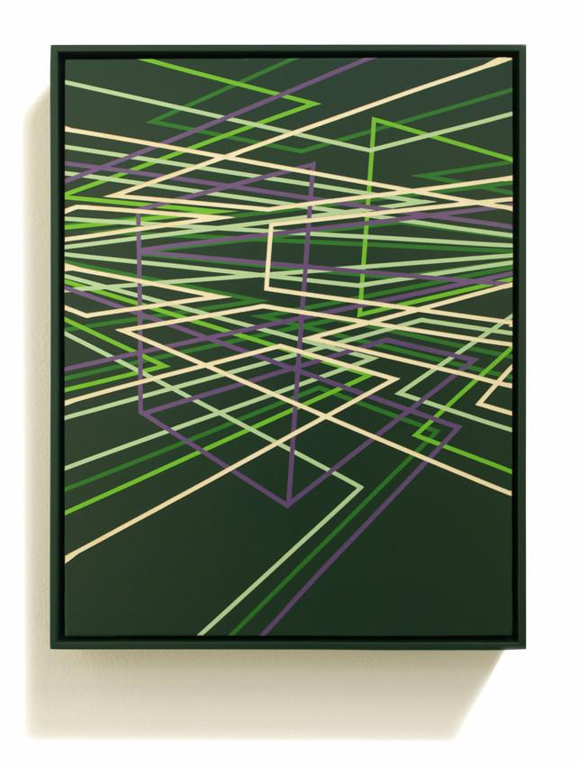 PETER DAVERINGTON     Emerald City  2011 Enamel and gesso on panel 43 x 33 cm