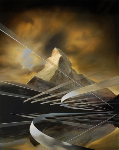 PETER DAVERINGTON    The Matterhorn Rising    2009   Oil and Enamel on Canvas   153 x 122 cm