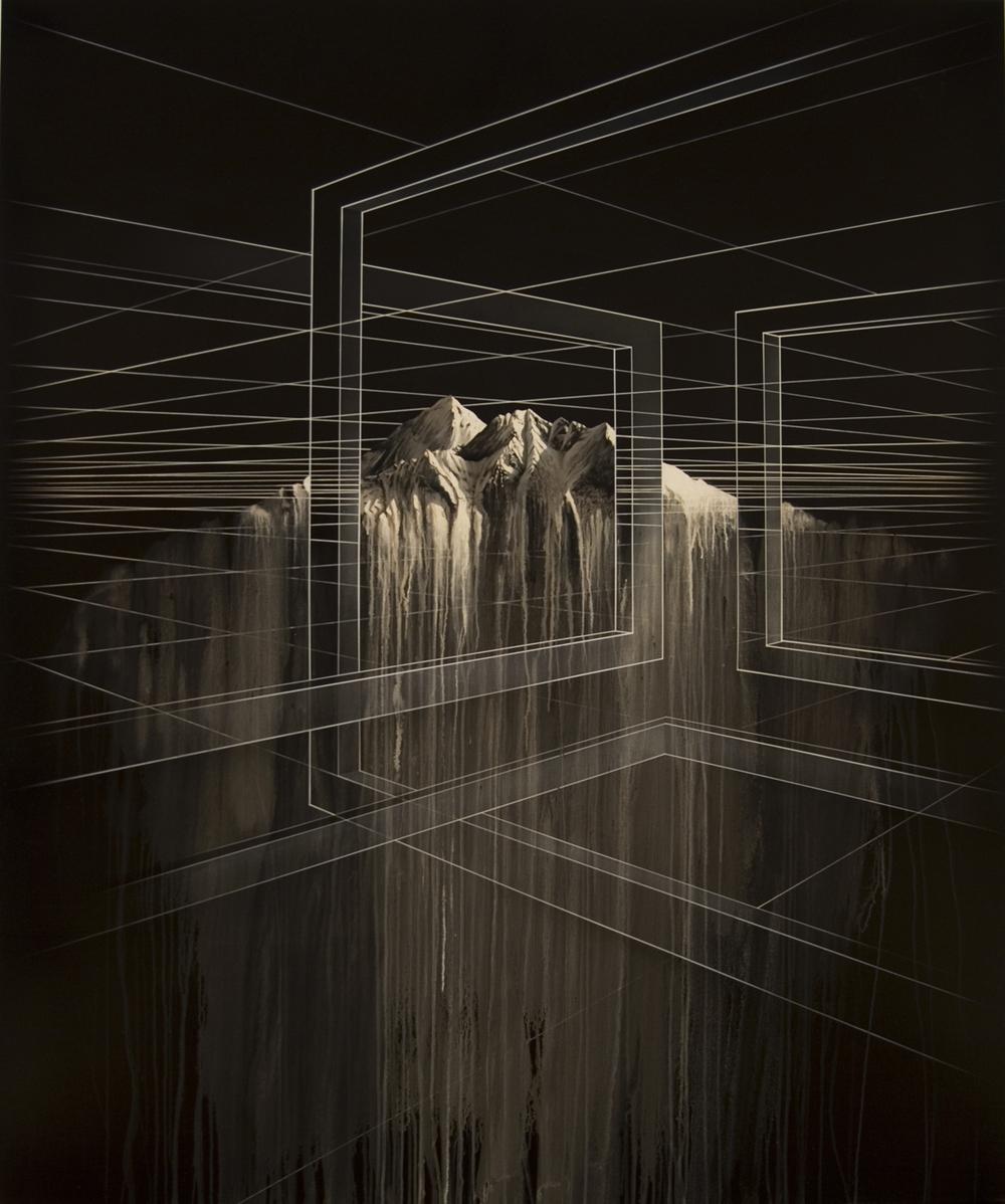 PETER DAVERINGTON     Inside this new love die  2008 Oil and Enamel on Linen 183 x 153 cm