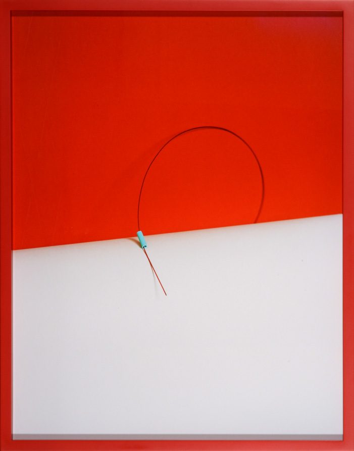 LYDIA WEGNER     Red Ribbon  2014 Archival Inkjet Print   57 x 74 cm