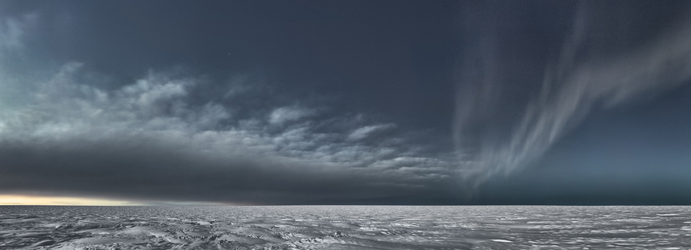 MURRAY FREDERICKS     Icesheet #3373  2013 digital pigment print, edition of 7 95 x 261 cm