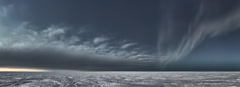 MURRAY FREDERICKS     Icesheet #3373  2013 digital pigment print, edition of 7 95 x 261 cm