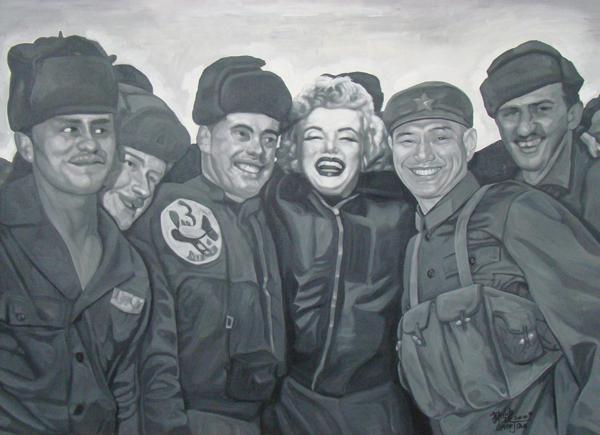 GUO JIAN     No.d  2009 Acrylic on canvas 152 x 213 cm