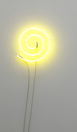 VANILA NETTO    The Artist as a Luminous Source    2010   Neon Light   165cm coiled up, 30cm in diameter