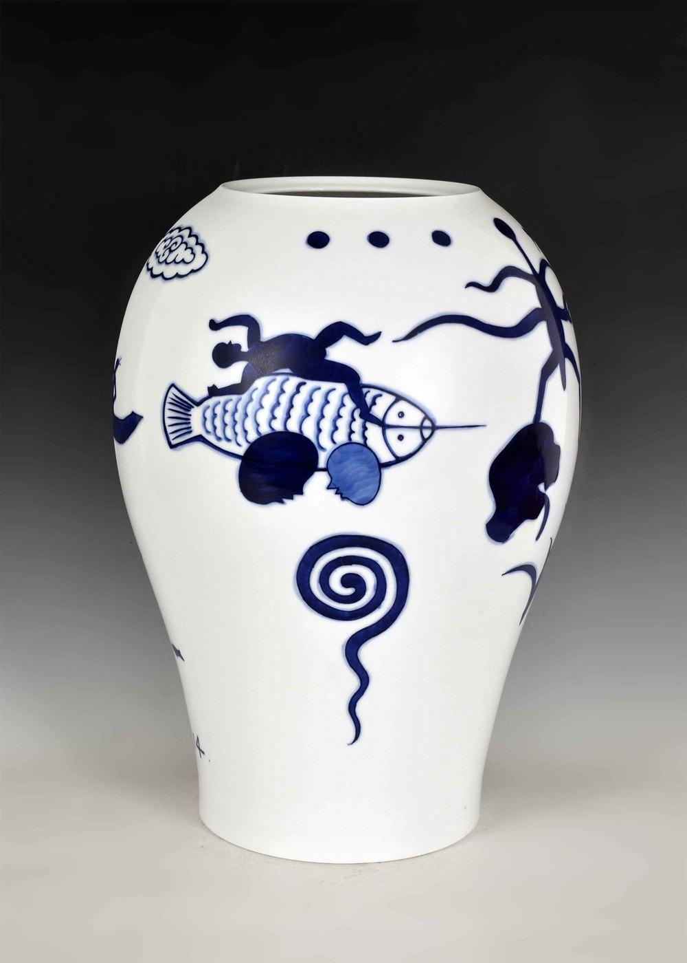 GUAN WEI     Land of the Dreaming No.1  2014 Ceramic 41 x 30 cm