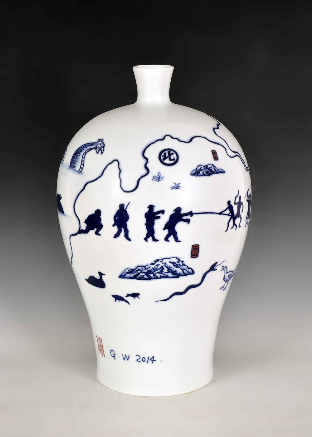 GUAN WEI     Wonderland No.9  2014 Ceramic 46 x 28   cm