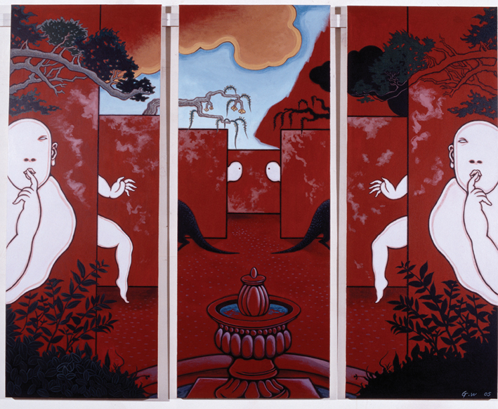 GUAN WEI    Secret Histories #1     2005   Acrylic on canvas 159 x 127 cm