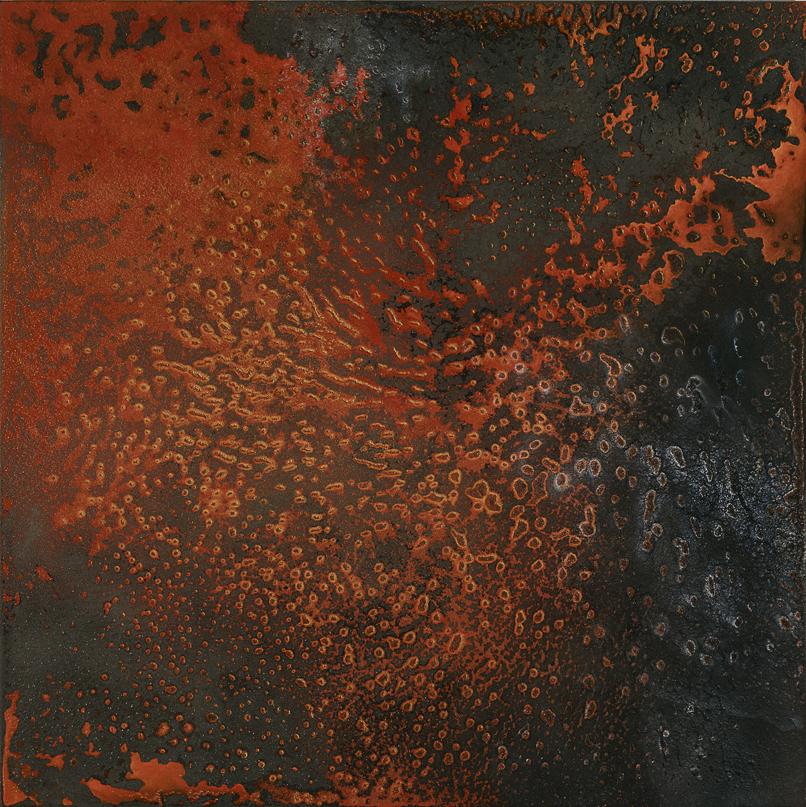 CATHERINE WOO     Scintilla  2015 mixed media on aluminium 120 x 120 cm