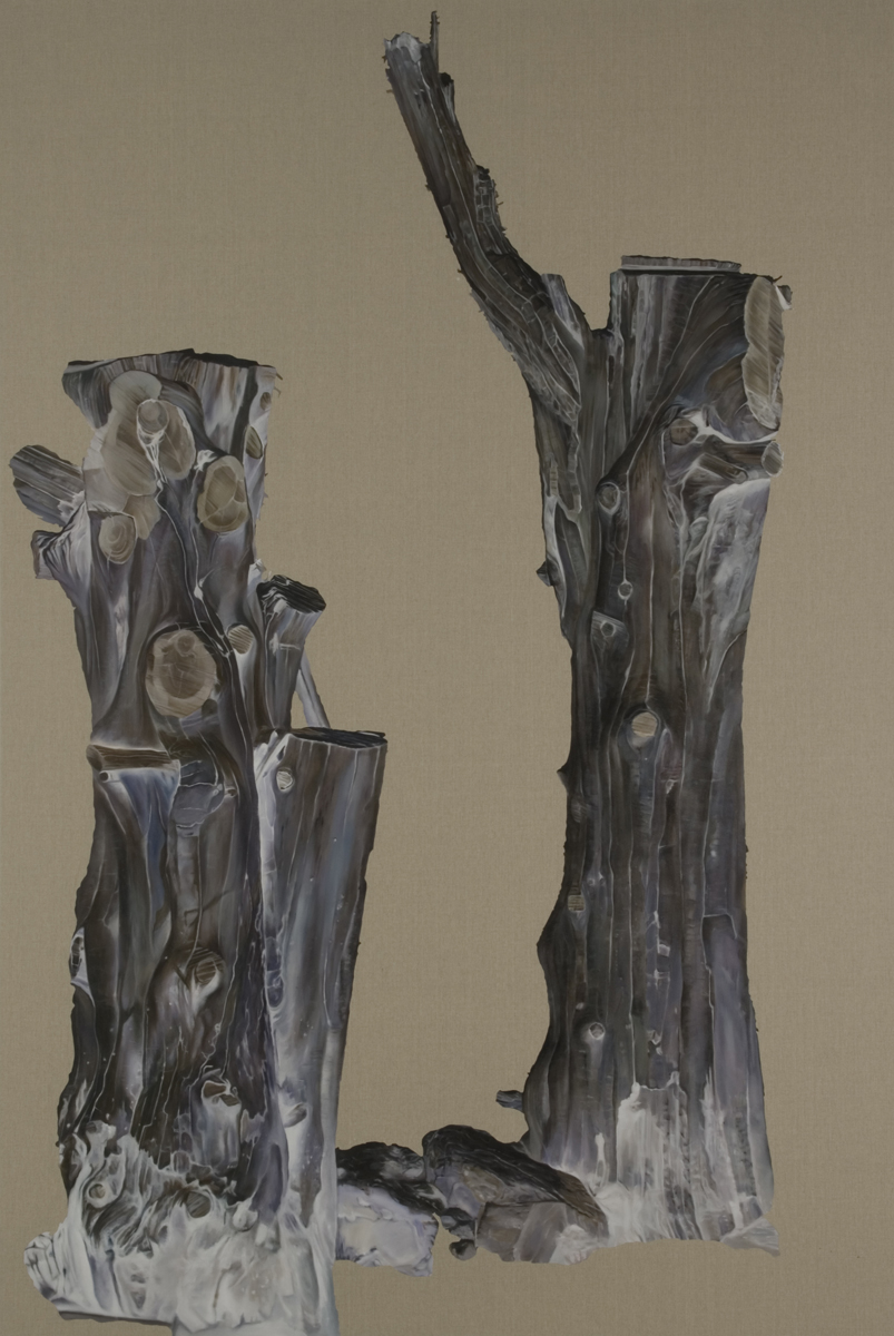 JOHN YOUNG     Crippled Tree #2  2010 Oil on linen 274 x 183 cm