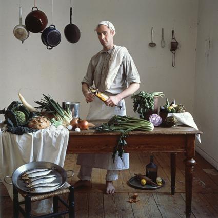 Anne Zahalka, The Cook (Michael Schmidt/architect, cook), 1987, cibachrome photograph, 80 x 80cm.