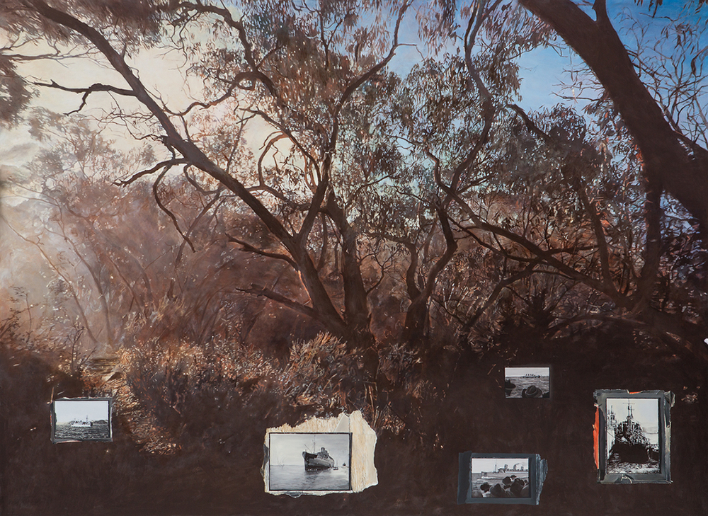 LYNDELL BROWN/CHARLES GREEN   Ghost Fleet  2016 Oil on linen 175 x 240 cm
