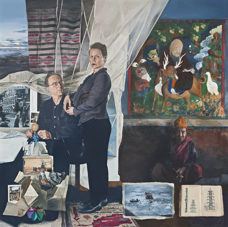 Lyndell Brown/Charles Green,  An end to suffering , 2009, oil on linen, 170 x 170 cm, Collection of The University of Queensland, purchased 2016.