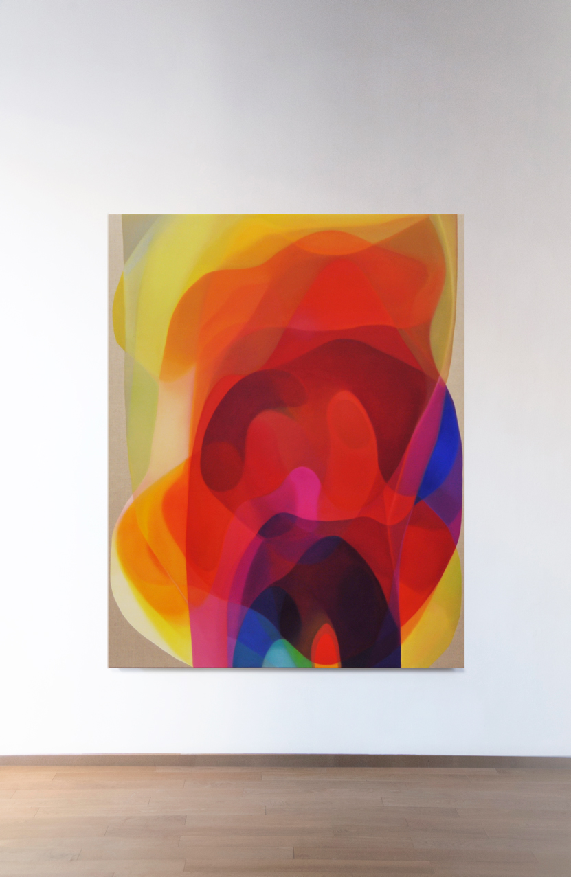 JOHN YOUNG   Veiled Spectrum VI  2015  Oil on linen  190 x 150 cm