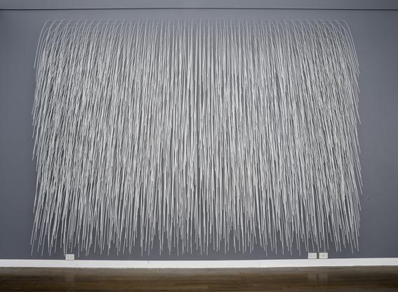 Rain Wall ,2008,nylon tubes,380 x 600 cm