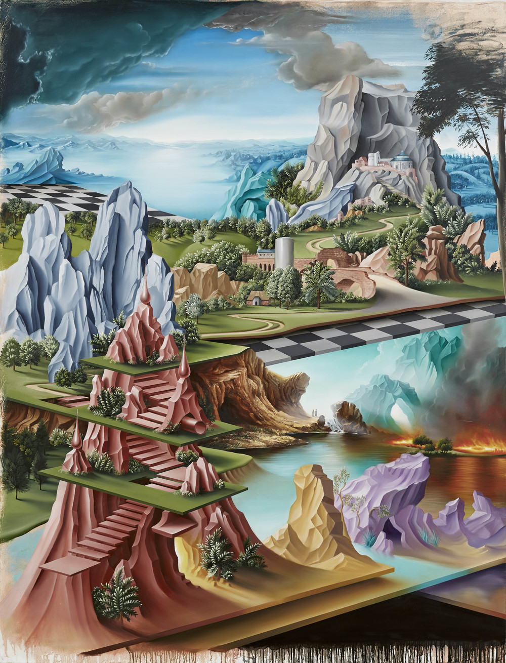 The Hanging Gardens of Nineveh , 2014, oil on canvas, 260 x 198 cm.