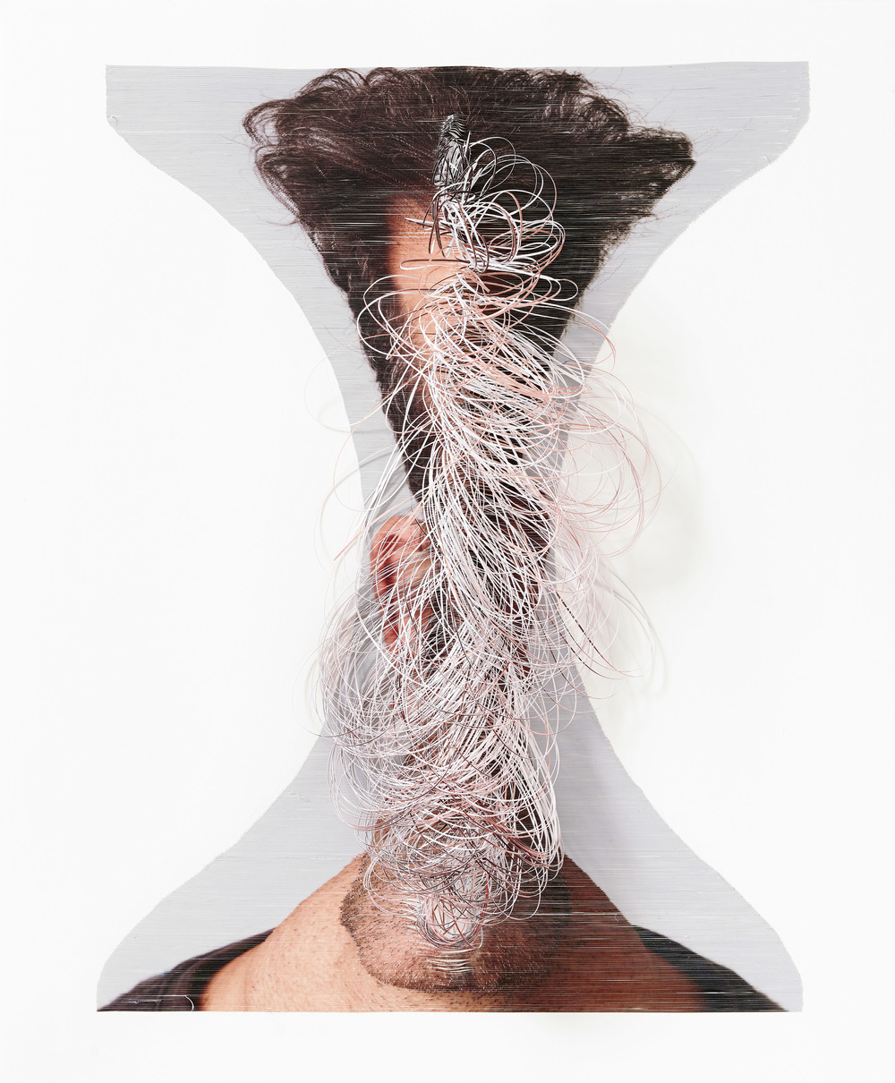 Looping #3 , 2014,Hand-cut colour photograph, Perspex box, 76 x 61 x 11.5 cm