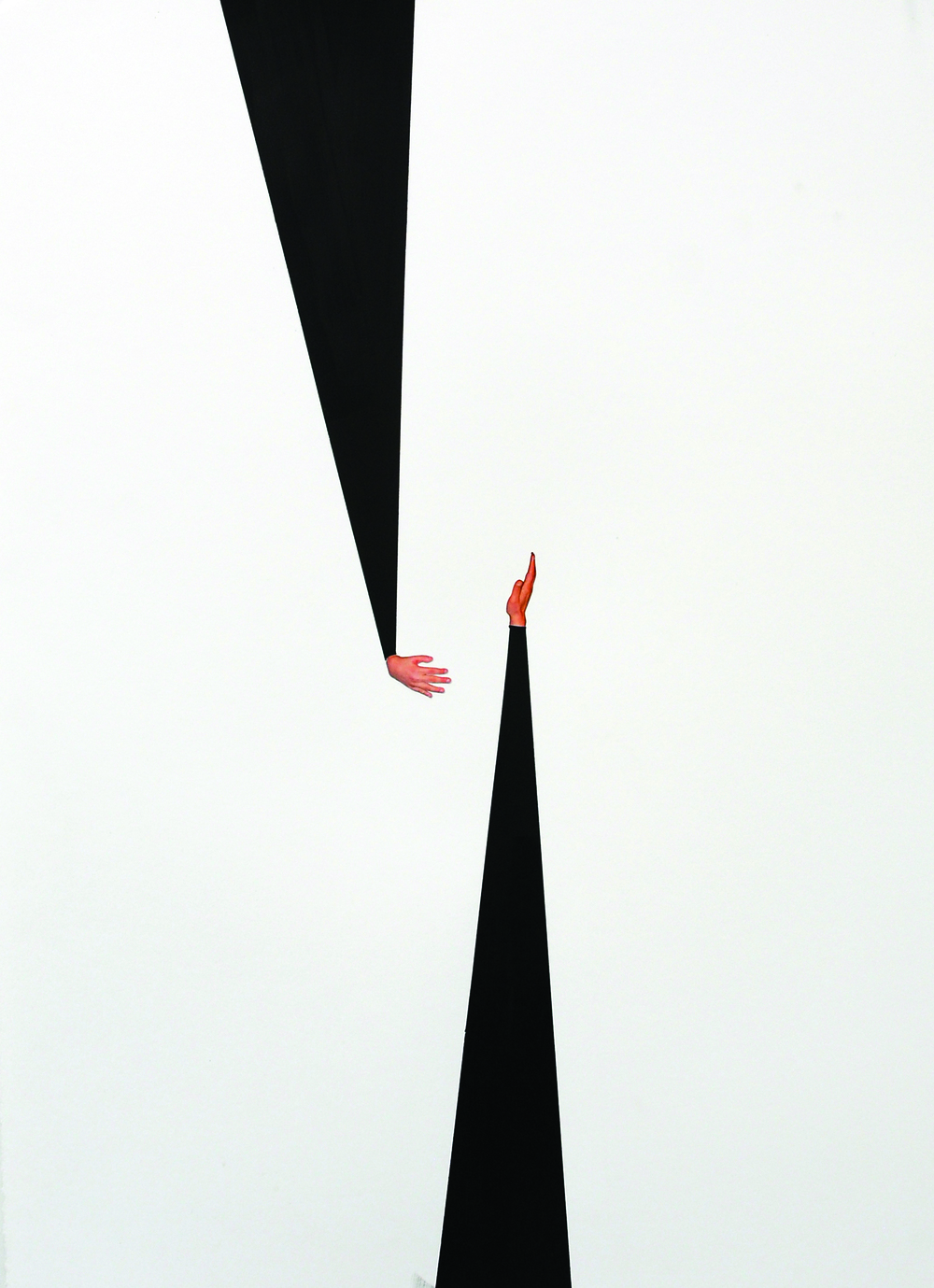 Passages ,2015,Acrylic paint, colour photograph,75 x 55 cm