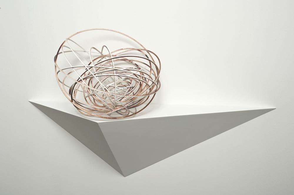 Orbital spin trick #2 , 2013,UV print on laser-cut, plywood sculpture,50 x 50 x 50 cm