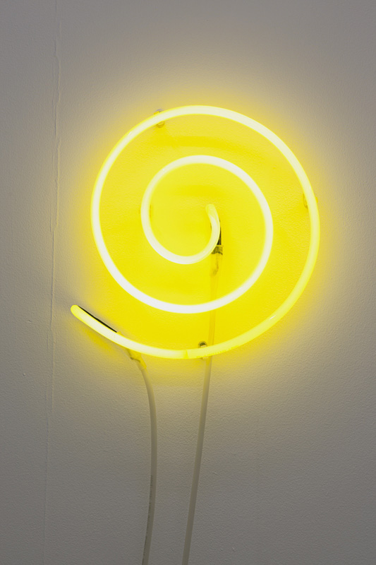 The Artist as a Luminous Source,  2010, Neon Light, 165cm coiled up, 30cm in diameter