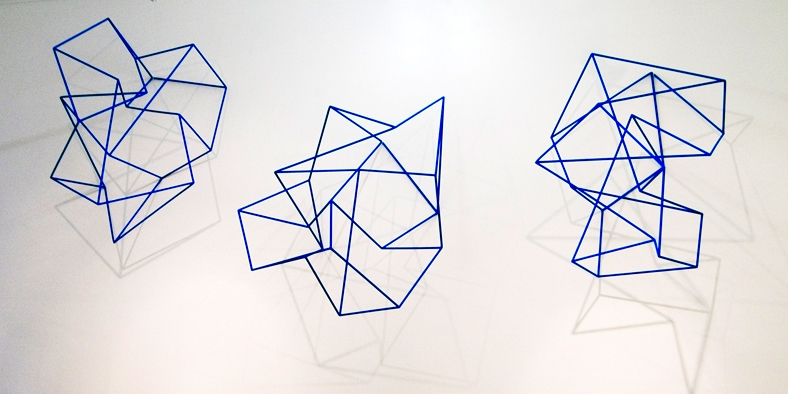 Model for New Constellation , 2007, 3 units of painted steel, 90 x 70 x 50 cm each unit.
