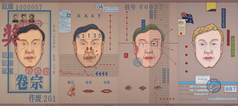 Guan Wei,  Plastic Surgery , 2016, acrylic on linen, 180 x 401cm
