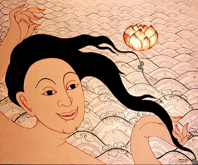 Mae Thoranee , 2001, Acrylic on canvas, 50 x 60 cm