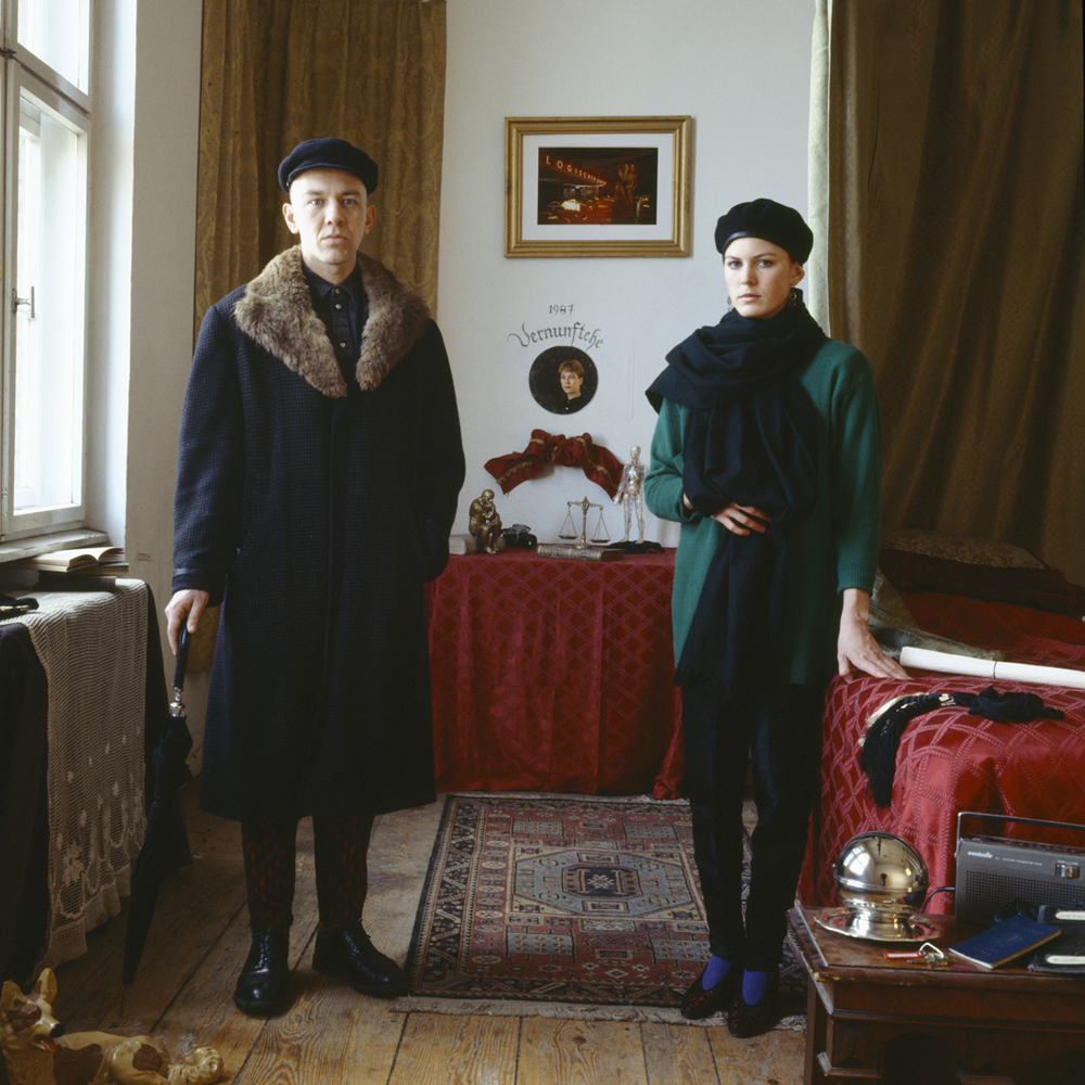 Marriage of Convenience (Graham Budgett and Jane Mulfinger/ artists),  1987, Cibachrome photograph, 80 x 80 cm