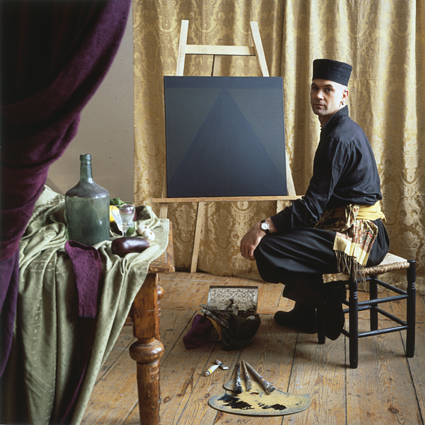 ANNE ZAHALKA     The Dutch Painter (Guus Koenraads, painter)  1986 Cibachrome photograph, edition of 10 80 x 80 cm