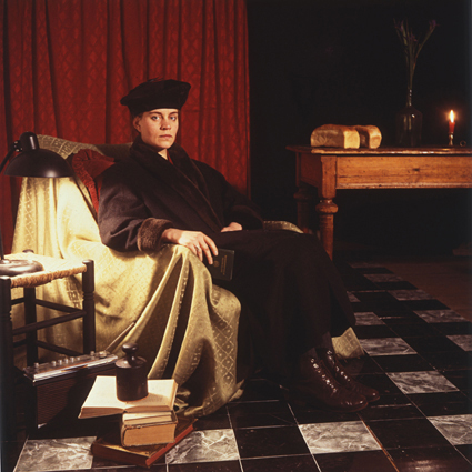 ANNE ZAHALKA    The German Woman (Ulriche Grossarth / artist)   1986 Cibachrome photograph, edition of 10 80 x 80 cm