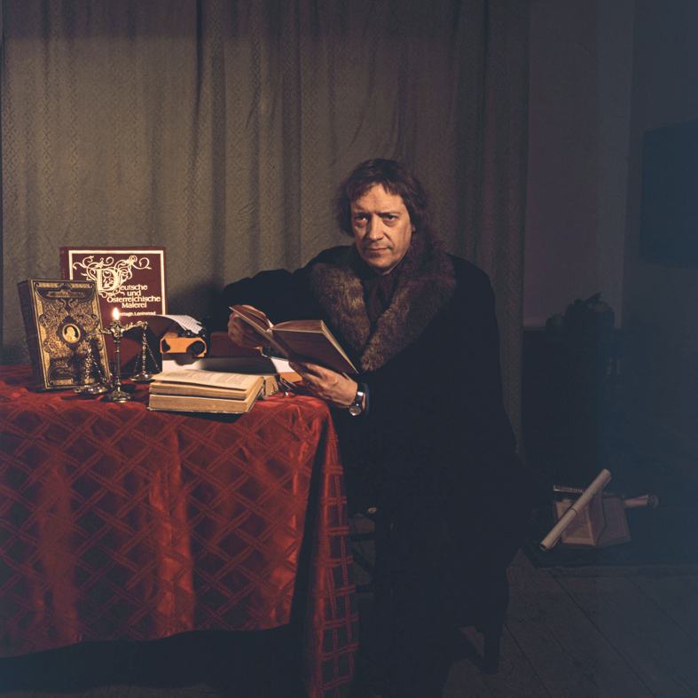 ANNE ZAHALKA     The Writer  1986 Cibachrome photograph, edition of 10 50 x 50 cm