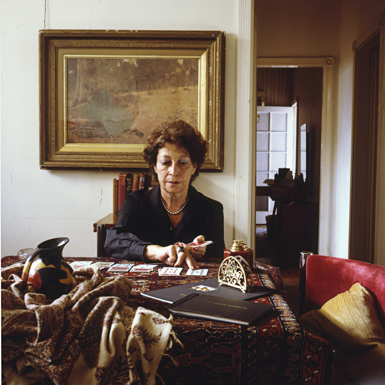 ANNE ZAHALKA     The Card Player (Hedy Zahalka)  1987 Cibachrome photograph, edition of 10 50 x 50 cm