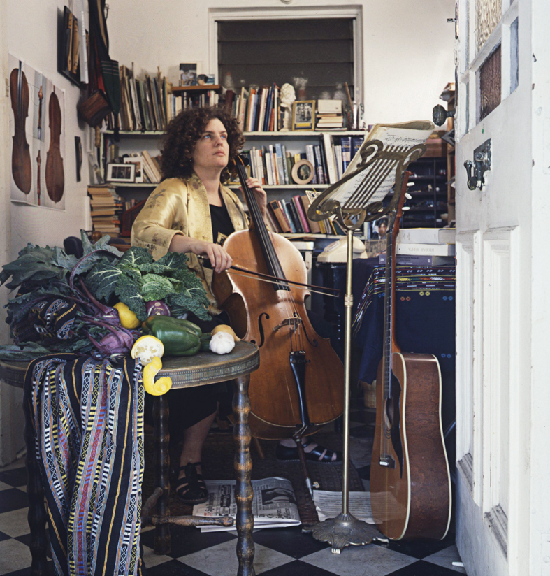 ANNE ZAHALKA     The Cellist (Lucy Gibson)  1987 Cibachrome photograph, edition of 10 50 x 50 cm