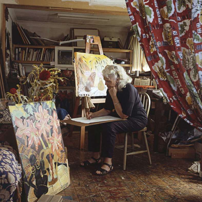 ANNE ZAHALKA     The Painter (Margaret Gibson)  1987 Cibachrome photograph, edition of 10 50 x 50 cm