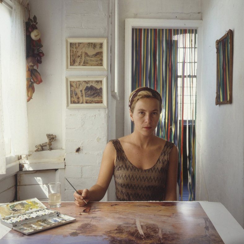 ANNE ZAHALKA     The Artist (self-portrait)  1987 Cibachrome photograph, edition of 10 50 x 50 cm