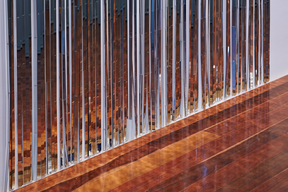 Image:  Quicksilver: 25 Years of Samstag Scholarships , featuring work by Nike Savvas, 2016, installation detail,  Anne & Gordon Samstag Museum of Art, University of South Australia. Photograph by Sam Noonan.