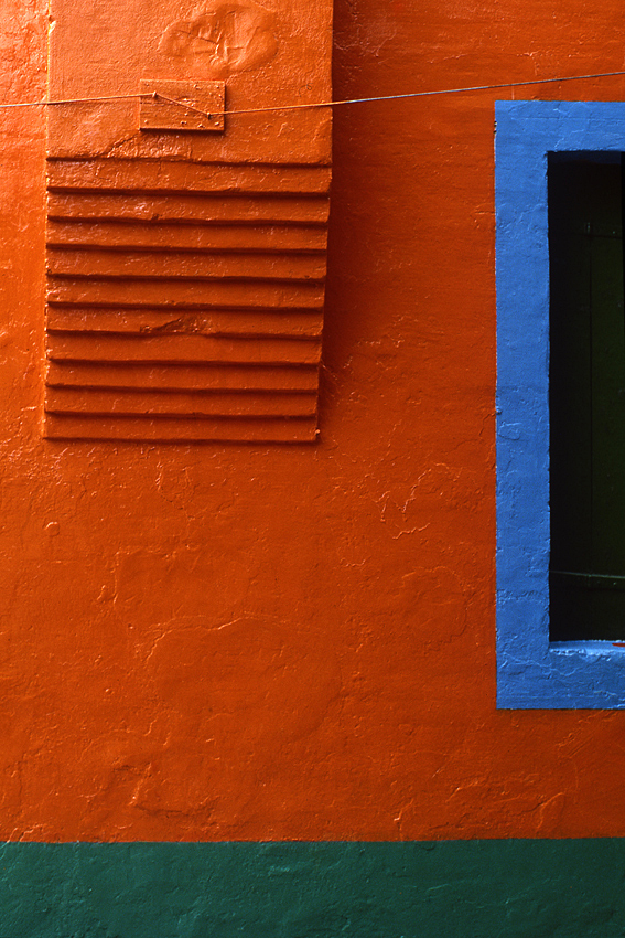 ROBERT OWEN   Burano orange wall  1978 dry mounted inkjet print 72 x 47 cm