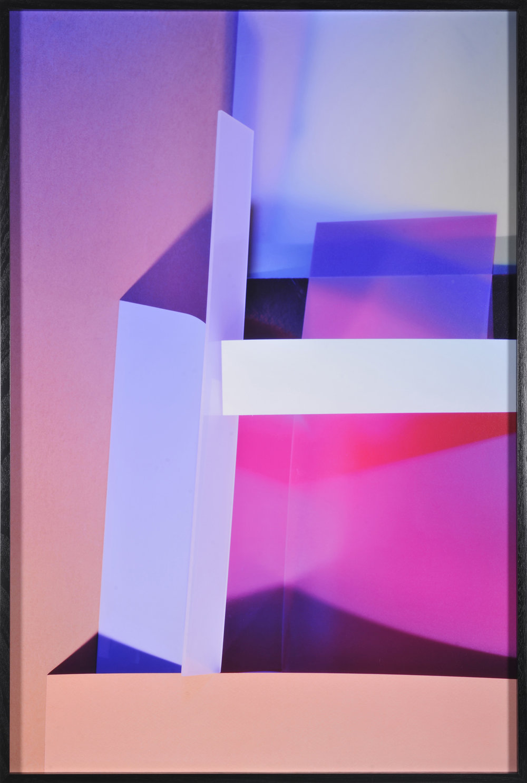 LYDIA WEGNER   Blue Cross  2016 archival inkjet print, black frame 95 x 64 cm