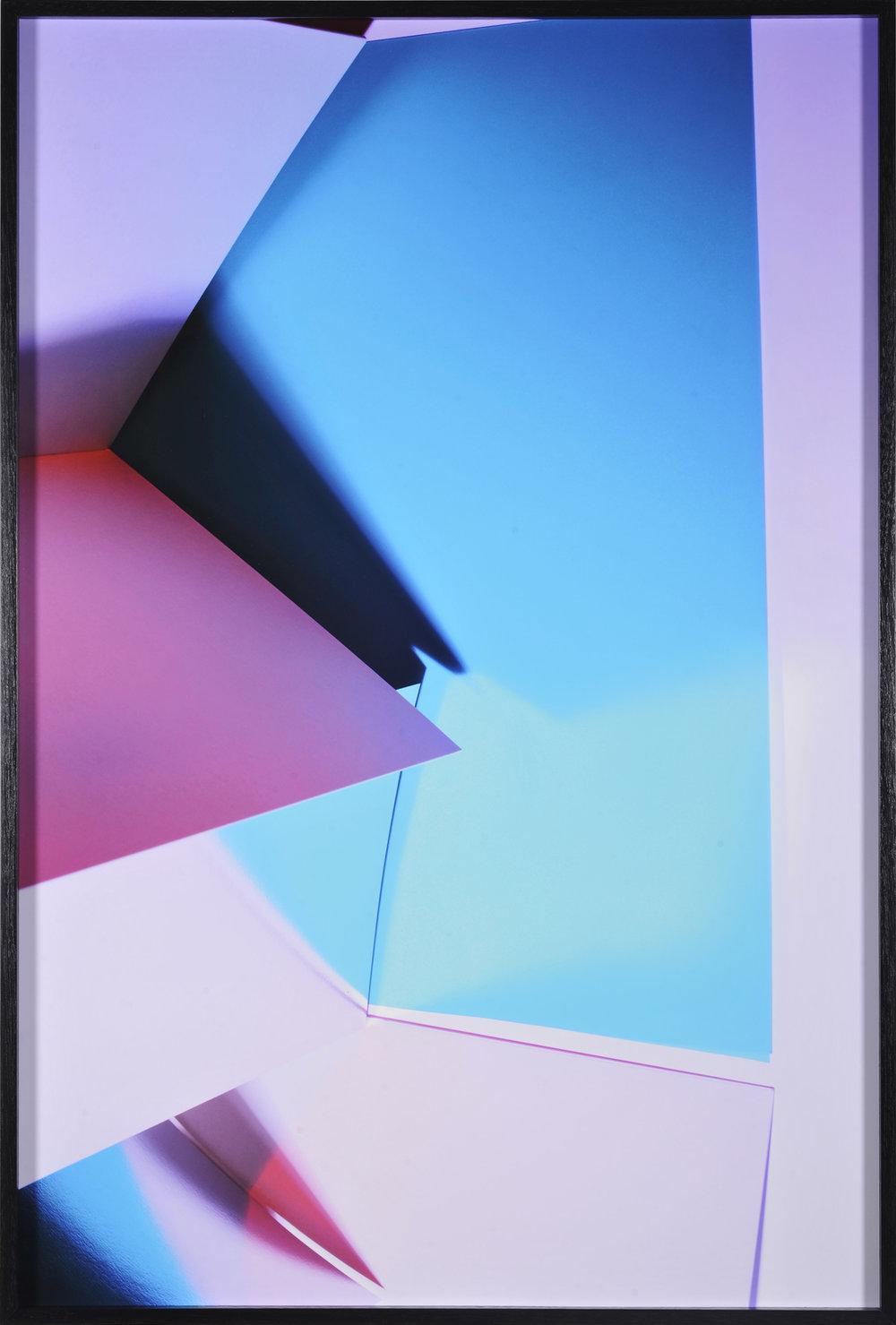 LYDIA WEGNER   Blue Cut  2016 archival inkjet print, black frame 95 x 64 cm