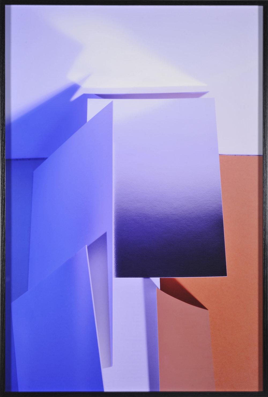 LYDIA WEGNER   Blue Haze  2016 archival inkjet print, black frame 95 x 64 cm