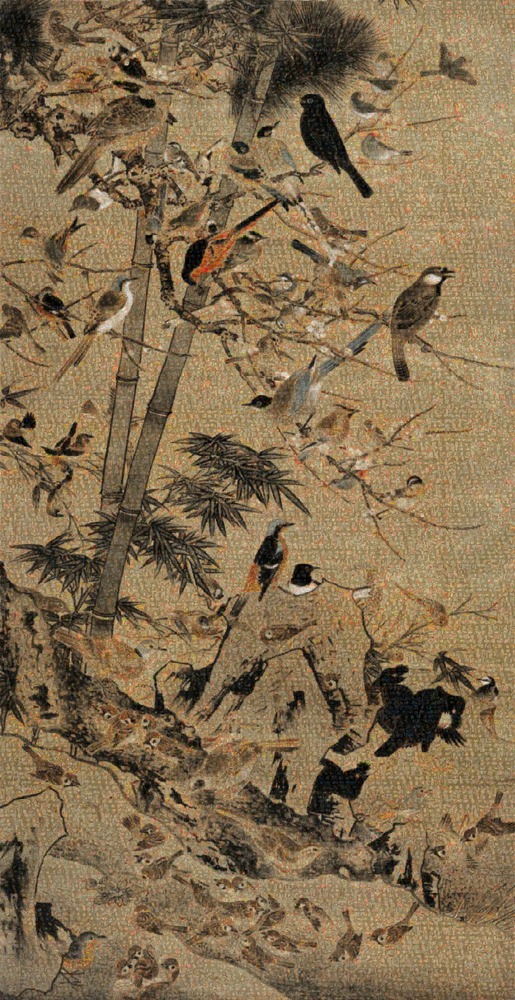 GUO JIAN   The Birds No.1  2013 Inkjet pigment print 200 cm x 103 cm