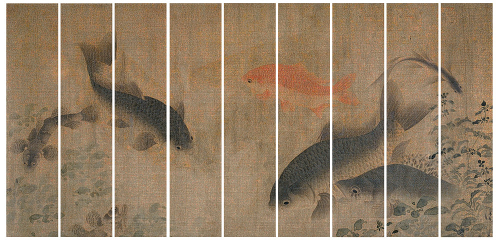 GUO JIAN   The Fish No.2  2014 Inkjet pigment print (9 panels) 200 cm x 399 cm