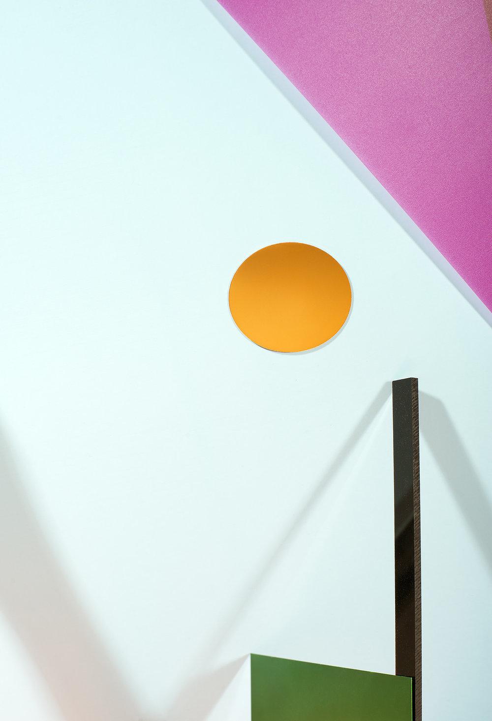 LYDIA WEGNER   Pink Corner Dot  2016 Polished Aluminium Frame, Light jet Print 44 x 30 cm