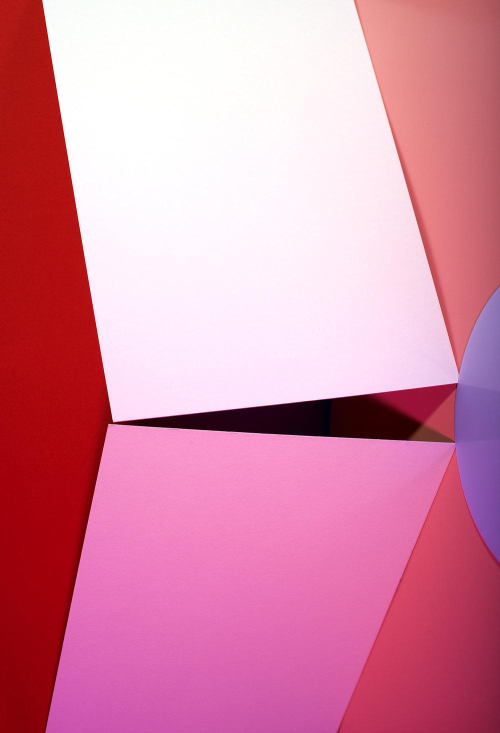LYDIA WEGNER   Pink Square  2016 Polished Aluminium Frame, Light jet Print 44 x 30 cm
