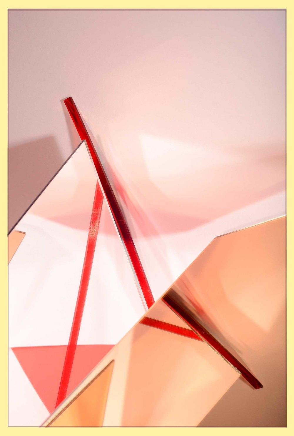 LYDIA WEGNER   Red Mirror Cut  2017 Archival inkjet print 106 x 71 cm