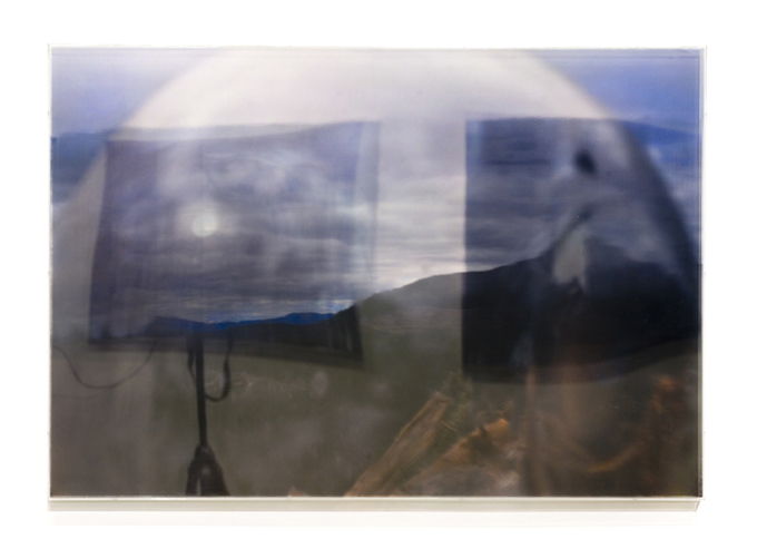 JANET LAURENCE   The Lie in the Lens III  2008 Duraclear, polished aluminium, acrylic 70 x 10 cm