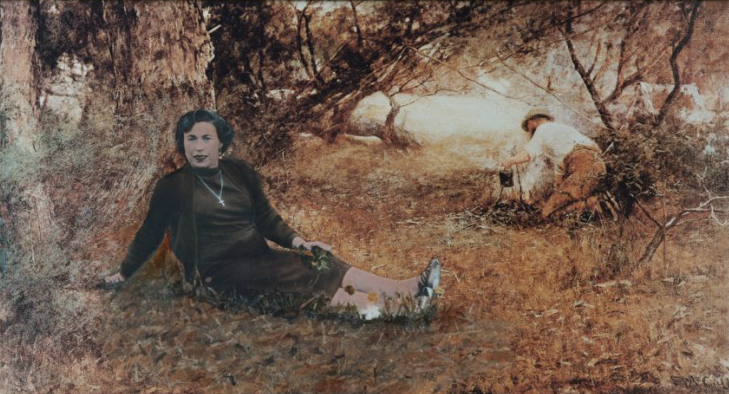 ANNE ZAHALKA   On the Wallaby Track - a long way from home  1983 Type C print 17 x 31 cm