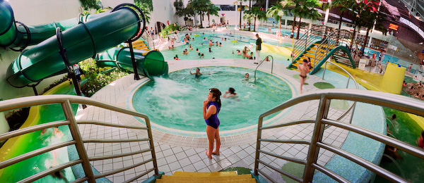 ANNE ZAHALKA   Aquatic Centre (girl)  1999 Type C print 115 x 280 cm