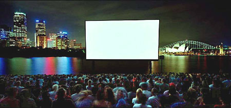 ANNE ZAHALKA   Open Air Cinema  1999 Type C print 115 x 242 cm